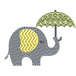 ELEPHANT WITH RAIN GUARD 2