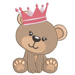 BEAR GIRL WITH CROWN 4