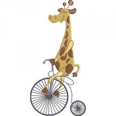 GIRAFFE ON BICYCLE