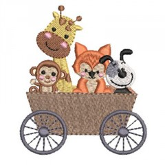 CAR WITH MONKEY AND FOX