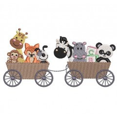 CAR WITH 8 ANIMALS