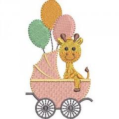 2 GIRAFFES IN BABY CART