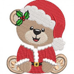 BEAR AND BEAR SANTA CLAUS