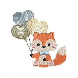 BABY FOX WITH BALLOONS 2