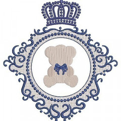 LACE BEAR IN CROWN FRAME
