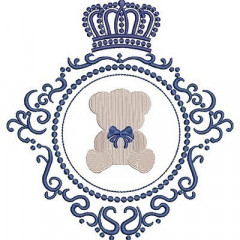 LACE BEAR IN CROWN FRAME 2