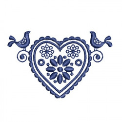 CORAZON ORNAMENTO ESCANDINAVO
