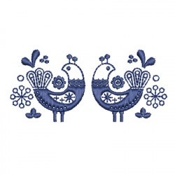 BIRDS SCANDINAVIAN FOLK ART