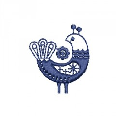 BIRD SCANDINAVIAN FOLK ART 2
