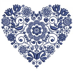 HEART SCANDINAVIAN FOLK ART 3