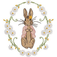 RABBIT IN THE DAISY FRAME