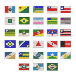 FLAGS OF BRAZILIAN STATES 3 CM