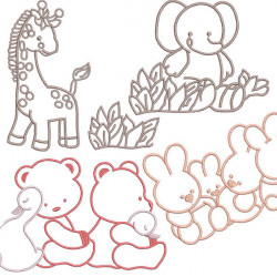BABY ANIMAL EMBROIDERY PACKAGE