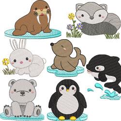 PAQUETE 7 ANIMALES DEL ÁRTICO