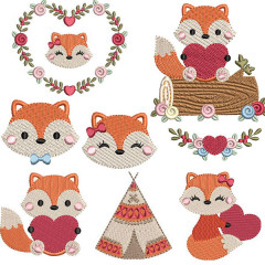 FOXES PACKAGE & HEARTS