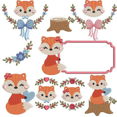 PACKAGE FOXES & 10 FRAMES