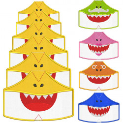 30 MASKS OF PROTECTION SHARKS FROM XS TO XXL