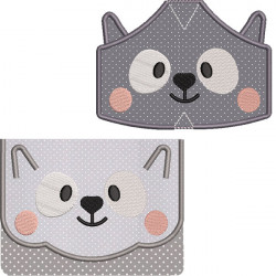 KIT BAG AND MASKS RACCOON 5 SIZES