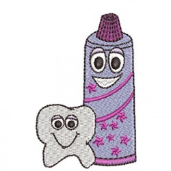DENTAL CREAM AND CUTE TOOTH