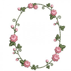 DELICATE FRAME WITH ROSES 3