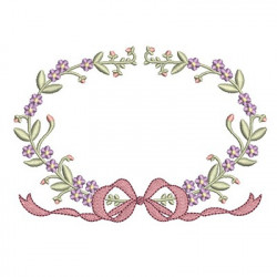 FLORAL FRAME WITH TIE 27