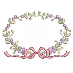 FLORAL FRAME WITH TIE 28