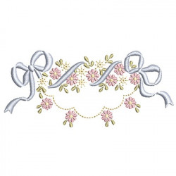 FLORAL FRAME WITH TIE 38
