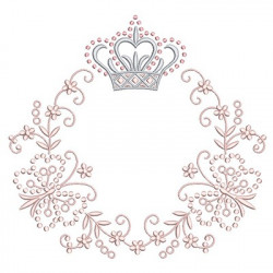 FRAME CROWN WITH BUTTERFLIES 30 CM