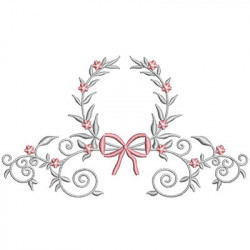 FLORAL FRAME WITH TIE 39