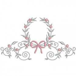 FLORAL FRAME WITH TIE 40