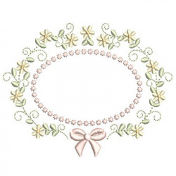 FLORAL FRAME WITH TIE 41