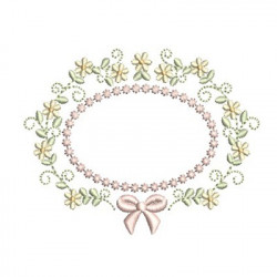 FLORAL FRAME WITH TIE 42