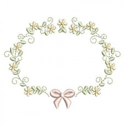 FLORAL FRAME WITH TIE 43
