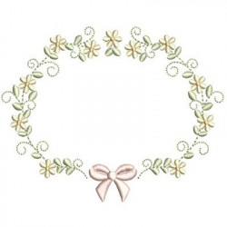 FLORAL FRAME WITH TIE 44