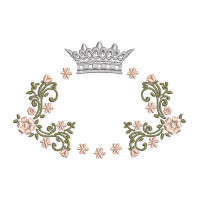 FLORAL FRAME WITH CROWN 9