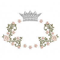 FLORAL FRAME WITH CROWN 10