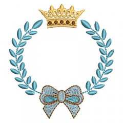 ACACIA FRAME WITH TIE AND CROWN 1