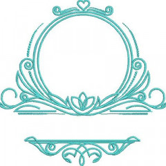 FRAME FOR INITIALS AND NAME