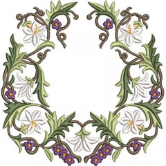 FLOWERS AND LILIES FRAME