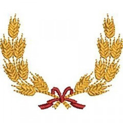WHEAT FRAME WITH LACE