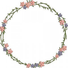WIRE WITH SIMPLE FLOWERS