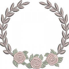 ACACIA FRAME WITH ROSES