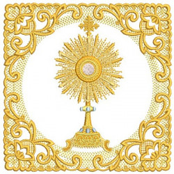 EMBROIDERED ALTAR CLOTHS MONSTRANCE 185