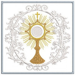 EMBROIDERED ALTAR CLOTHS MONSTRANCE 191