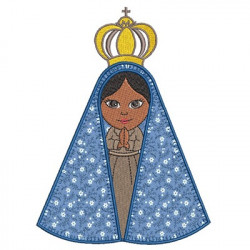 OUR LADY APPEARED APPLIED BLANKET