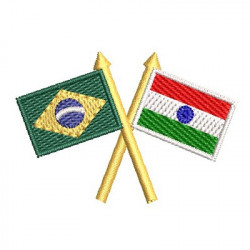 FLAG BRAZIL AND INDIA