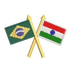 BANDEIRA BRASIL E ÍNDIA