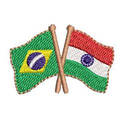 BANDEIRA BRASIL E ÍNDIA 2