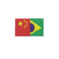 BRAZIL AND CHINA FLAG