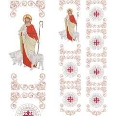 SET FOR GALLON JESUS GOOD SHEPHERD